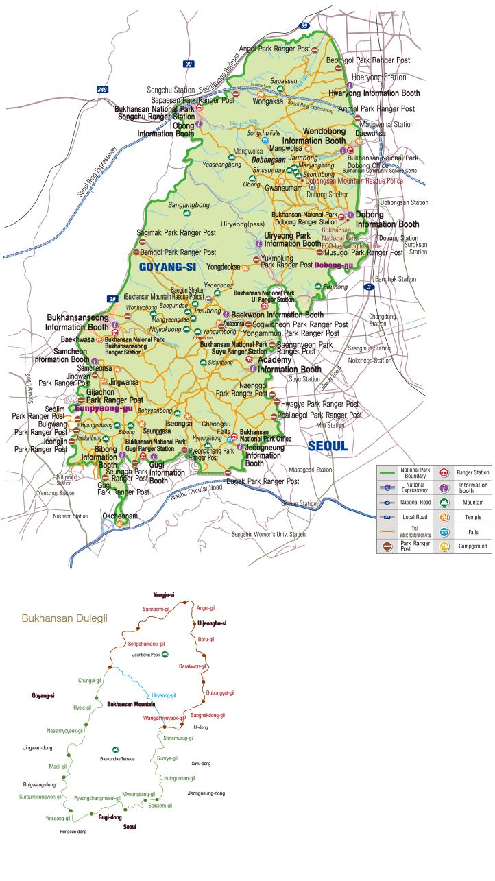 Bukhansan National Park map